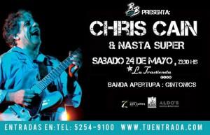 Chris Cain en Argentina
